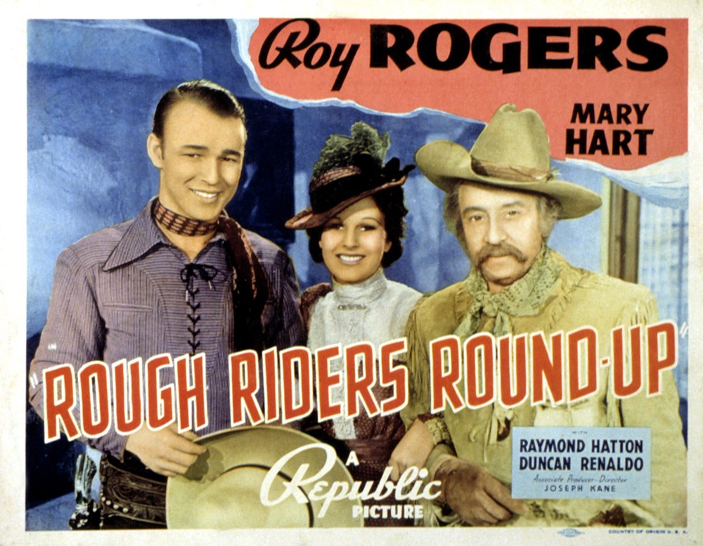 ROUGH RIDERS ROUND-UP MOVIE POSTER Roy Rogers VINTAGE
